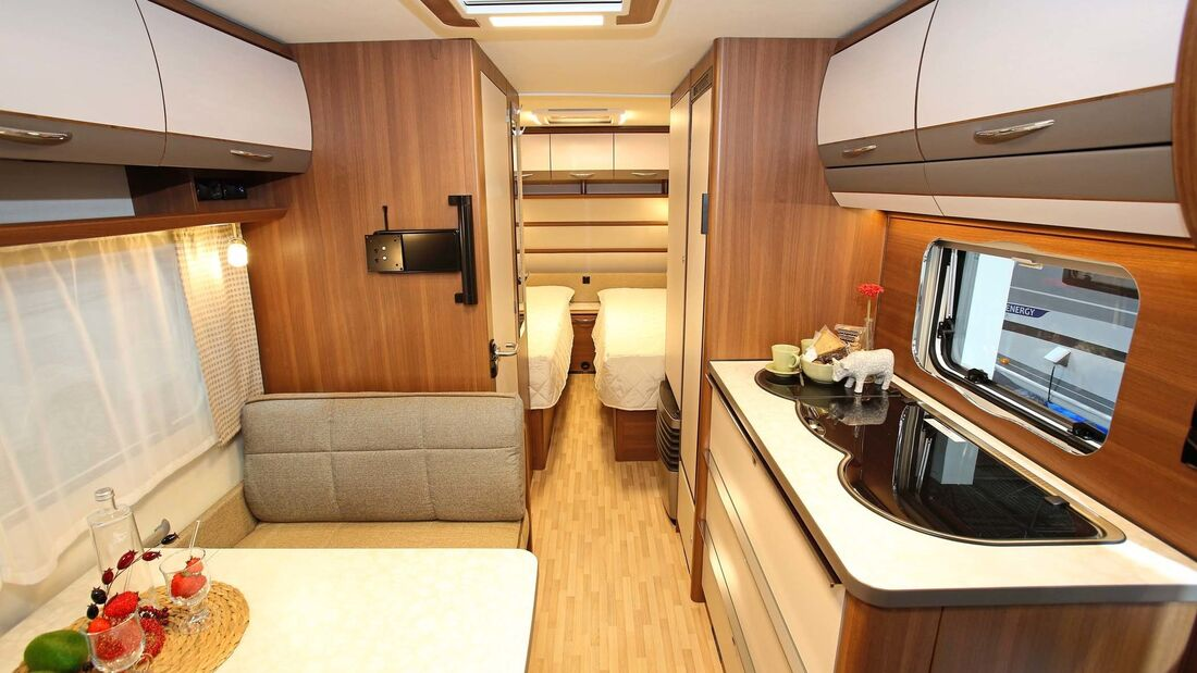 Der 530 K kombiniert Einzelbetten mit der Raumaufteilung des 520 K.
