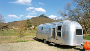 "Der Airstream ist das Symbol fuer Caravans ""made in USA""."