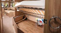 Der Bettstauraum ist riesig, liegt aber hinter der Achse.