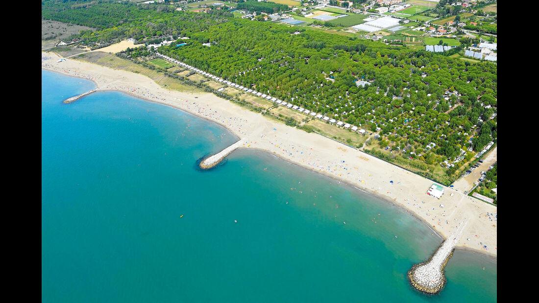 Der Campingplatz Ca´ Savio liegt in der Naehe von Punta Sabbioni.