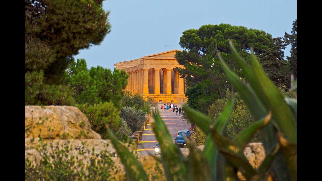 Der Concordia-Tempel bei Agrigento gilt als eines der besterhaltenen Bauwerke der Antike.