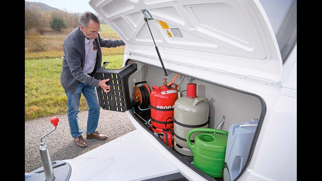 Der Gaskasten hat in seltenen Fällen Probleme mit Wassereinbruch beim Bürstner Averso