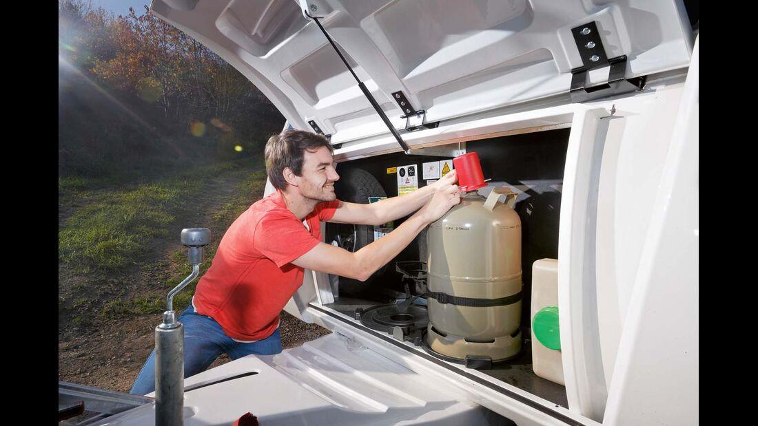 Der Gaskasten ist gut zugänglich.