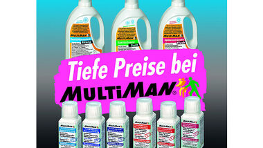 Der Name MultiMan steht nicht nur für Hygiene- und Pflegeprodukten, sondern auch für Sparsamkeit