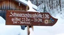 Der Weg zur Schwarzenberghütte ist leicht zu bewältigen.