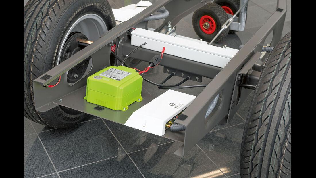 Der grüne Mobility-Power-Pack ist ein Lithium-Akku