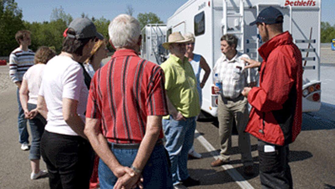 Dethleffs, fahrsicherheit, training, reisemobil, wohnmobil, caravan, wohnwagen
