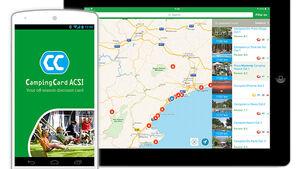 Die ACSI-App ist eine Ergänzung zum CampingCard ACSI-Führer. Man kann über GPS nach Campingplätzen in der Umgebung suchen.