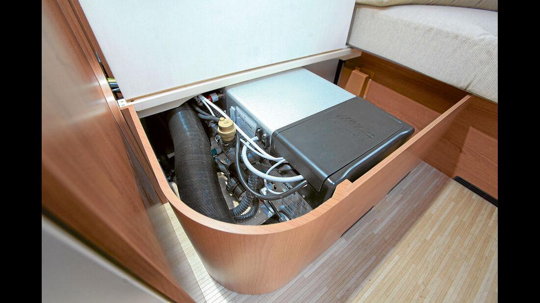 Die Alde Compact 3020 und 3010 koennen mit Gas und Strom heizen.