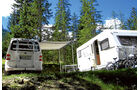 Die Campingneulinge haderten erst mit der Technik, waren dann aber Feuer und Flamme. Auch für Hopfensee und Sexten.