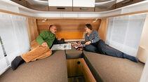 Die Caravan-Betten sind niedriger als im Reisemobil.