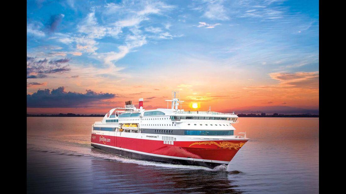 Die Fähren MS Stavangerfjord und Bergensfjord werden mit Erdgas betrieben.