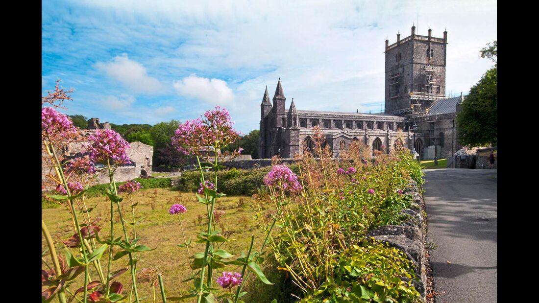 Die Kathedrale St. David's aus dem 12. Jahrhundert ist der heiligste Platz von Wales.