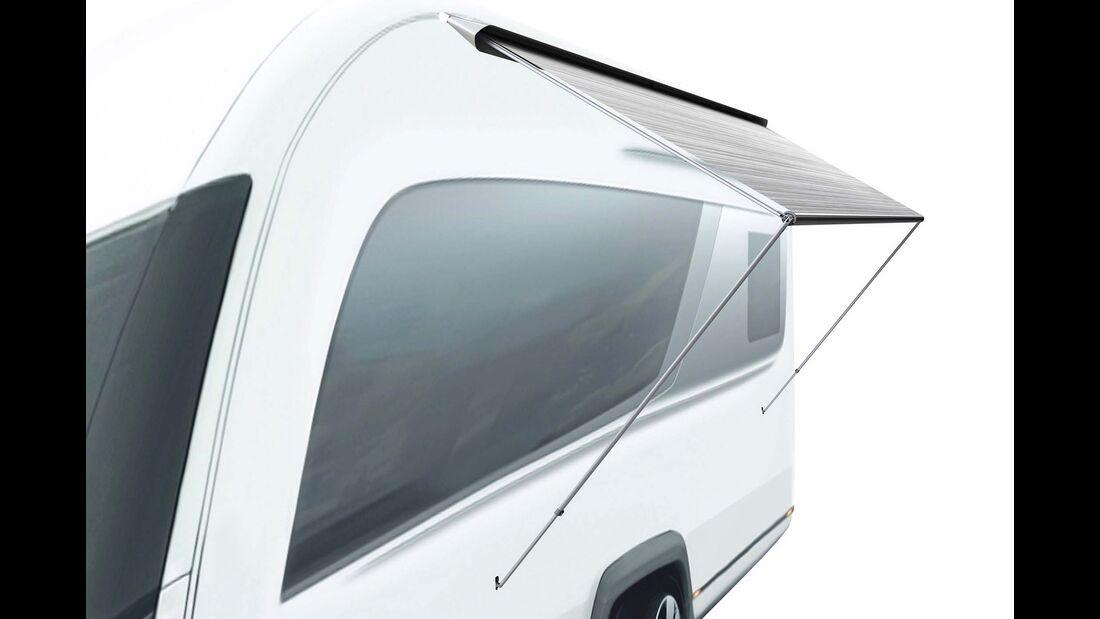 Die Sackmarkise CaravanStore XL ist künftig mit einem Tuchauszug von 250 Zentimetern erhältlich.