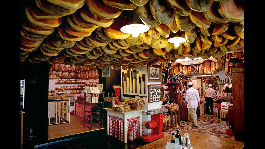 Die traditionelle Antica Macelleria Falorni in Greve bietet Köstliches.
