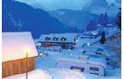 Die vier Campingplätze im Fassatal liegen zwischen 1300 und 1450 Metern über Meereshöhe.