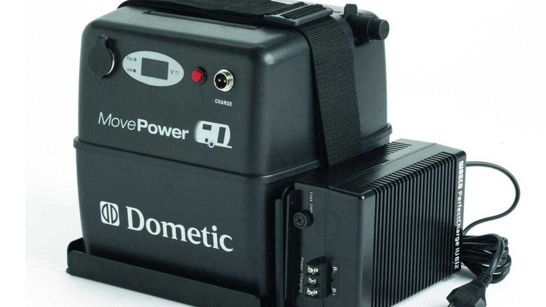 Dometic hat eine mobile Batterie entwickelt, die als Stromversorger auch abseits des Wohnwagens verwendet werden kann.