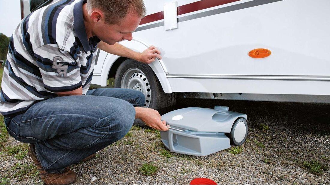 Ein rollbarer Abwassertank ist eine äußerst praktische Sache