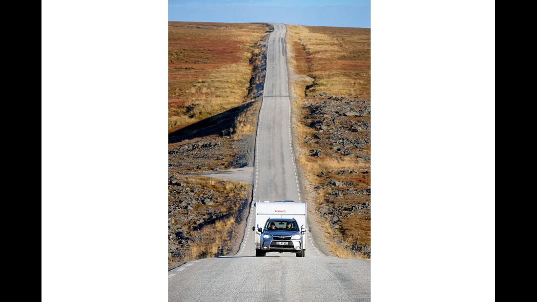 Einsame Landstraße in Norwegen