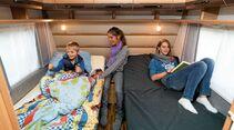 Einzelbetten schnell zum Doppelbett umbaubar im Musica 530 K