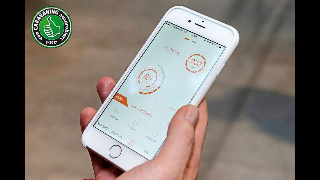 Elektro Einrad Inmotion Smartphone-App