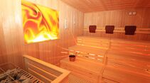 Entspannung pur verspricht die neue Sauna.