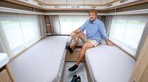 Erhöhte Betten mit mehr Stauraum im Fendt Bianco Activ