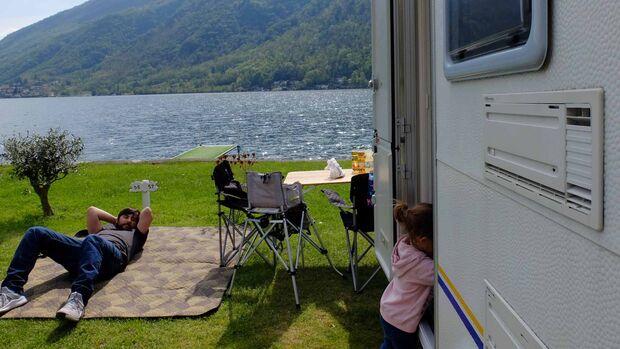 Erster Familienurlaub im eigenen Caravan.