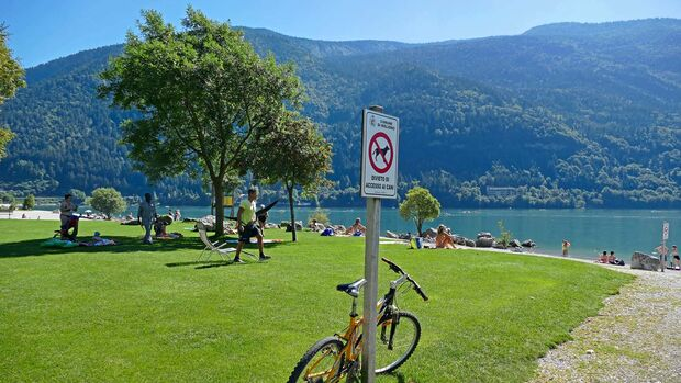 Fahrrad am Lago di Molveno