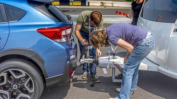 Fahrsicherheitstraining Subaru und Fendt