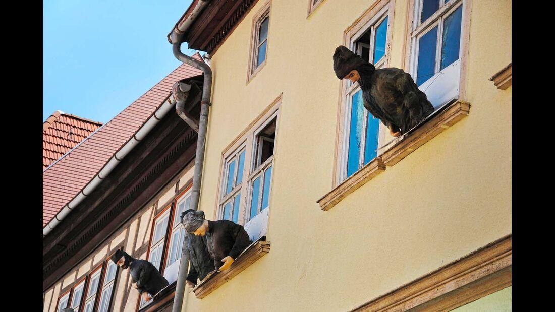 Fassade in Mühlhausen.