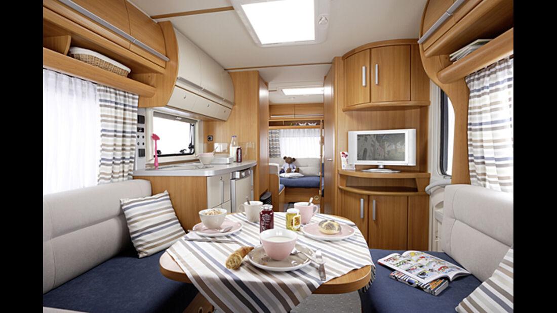 Fendt Caravans Wohnwagen 2008/2009 Topas Saphir platin Diamant CARAVANING