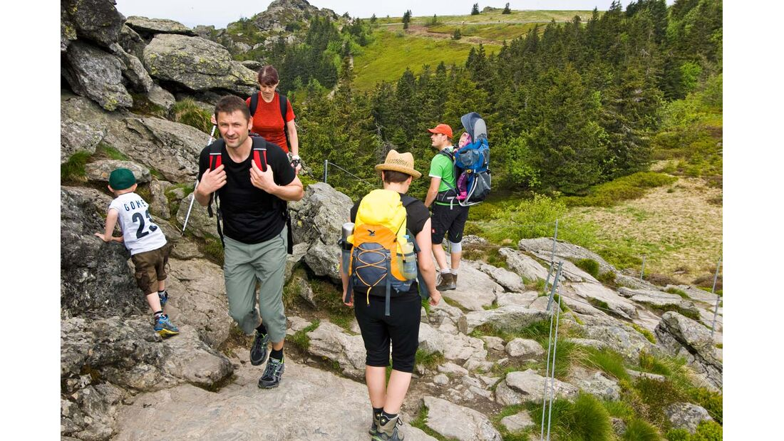 Ferien- und Wanderregion, Familien