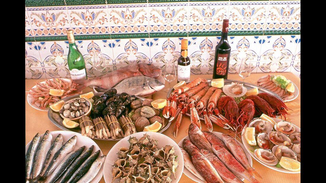Fische und Meeresfrüchte aus der Provinz Andalusien