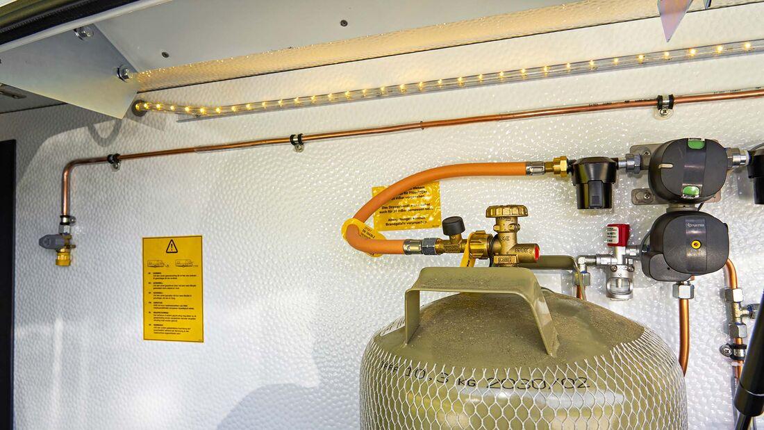 Gaswarner im Wohnwagen