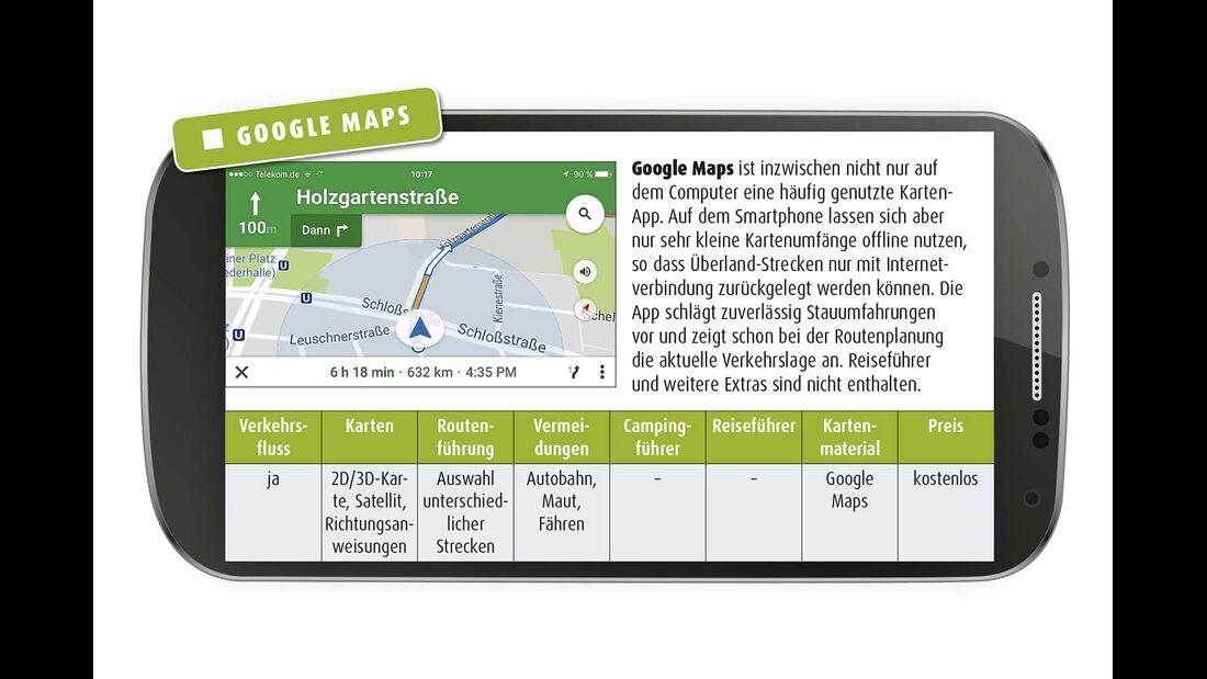 Google Maps ist inzwischen nicht nur auf dem Computer eine häufig genutzte Karten- App.
