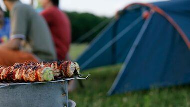 Grillen, Camping