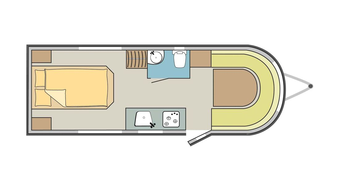 Grundriss Caravan Liberty LM 490