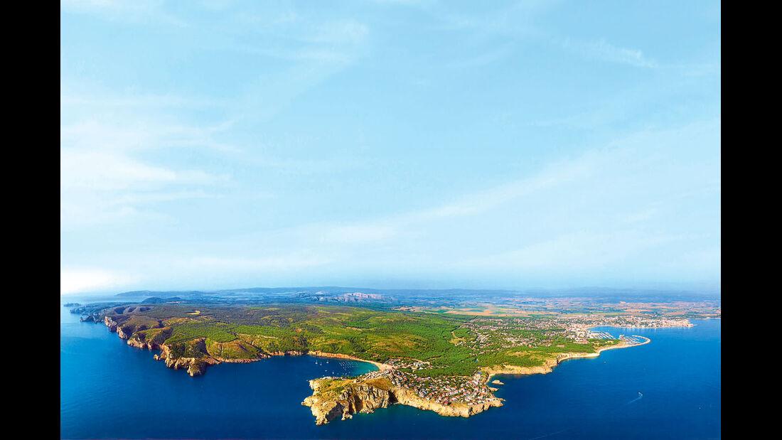 Halbinsel Montgó mit Camping Illa Mateua.