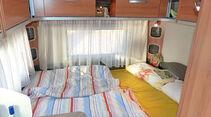 Heckbett mit zwei Matratzen im Eriba Feeling