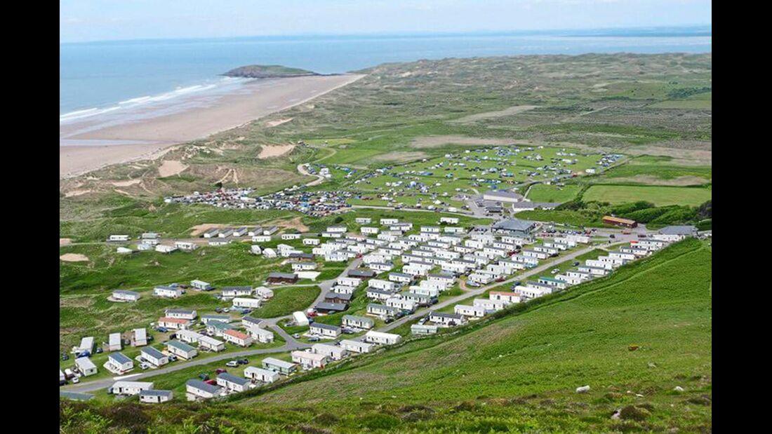 Hillend Camping: nur 100 Meter vom schönen Strand entfernt.