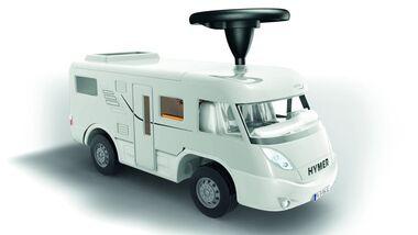 Hochaktuell ist das Hymer-Rutsch-Wohnmobil von Movera zum vierzigsten Geburtstag des Klassikers Bobby Car