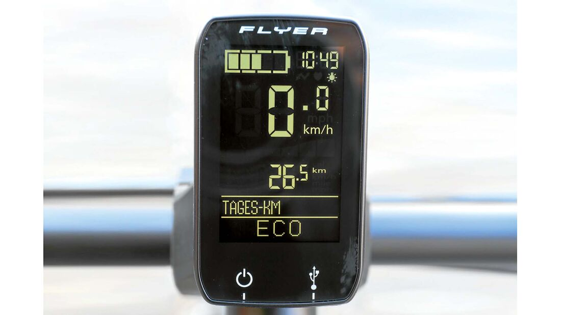 Hymer E-Bike Display