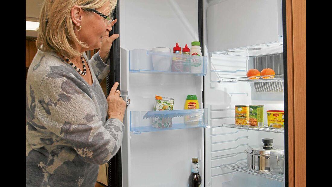 Im Gasbetrieb funktioniert der Kühlschrank nicht immer