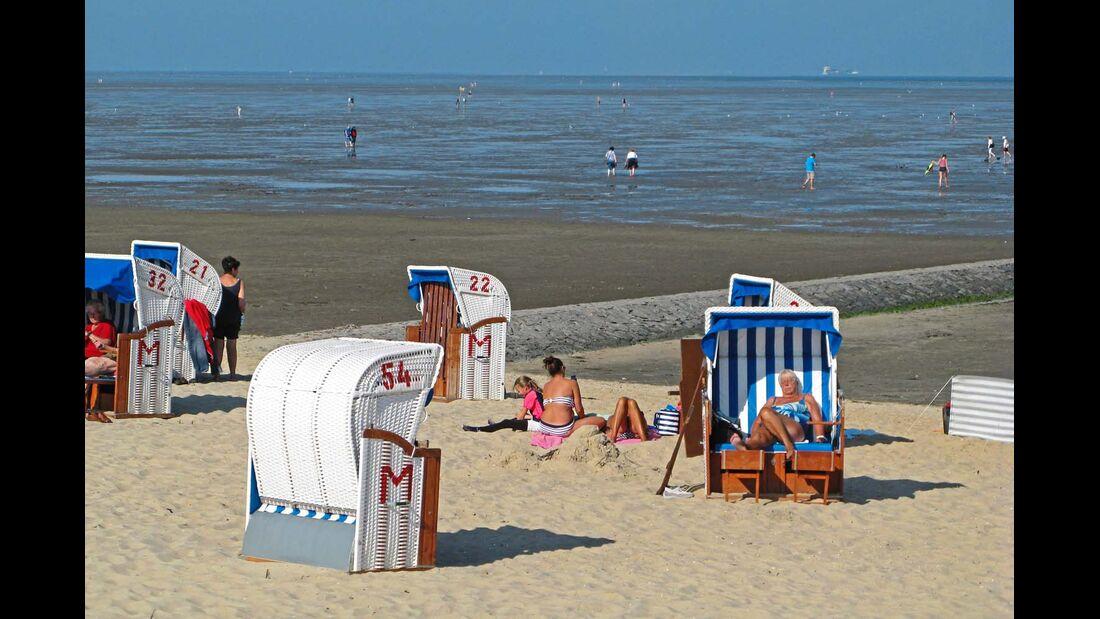 In Cuxhaven kann man auch am Strand entspannen.
