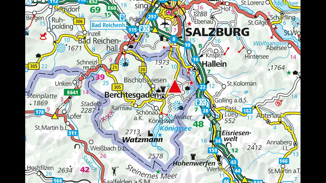 Karte Region Allweglehen