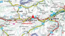 Karte Region Arlberg