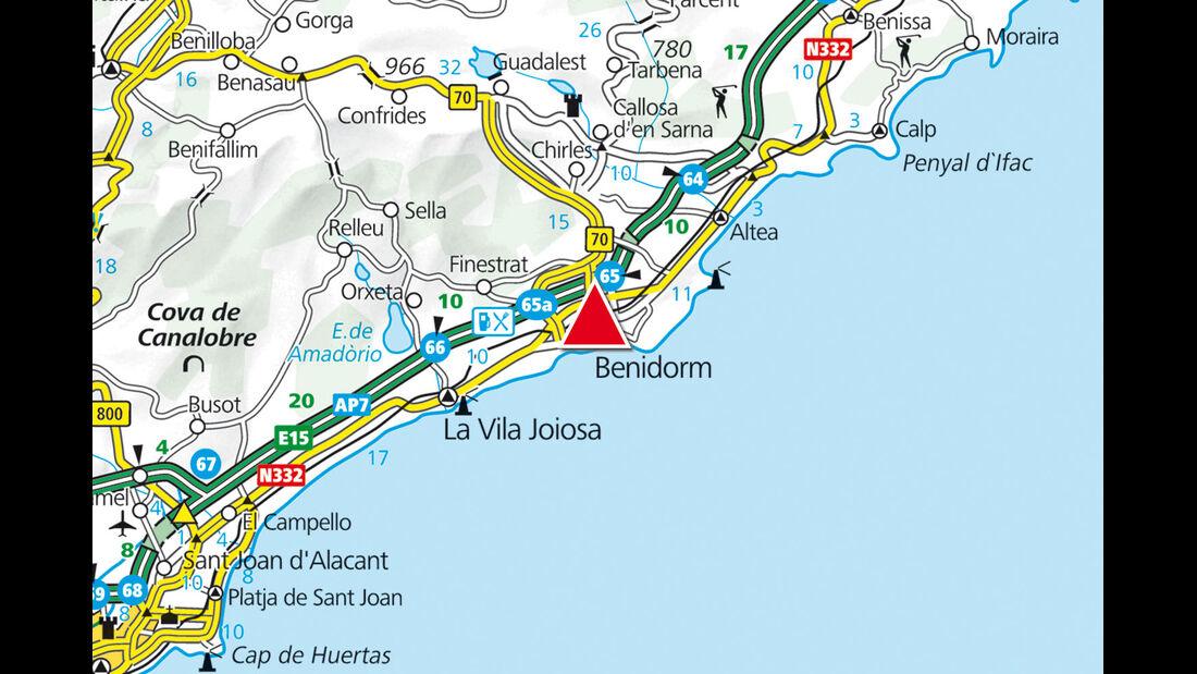 Karte Region Benidorm