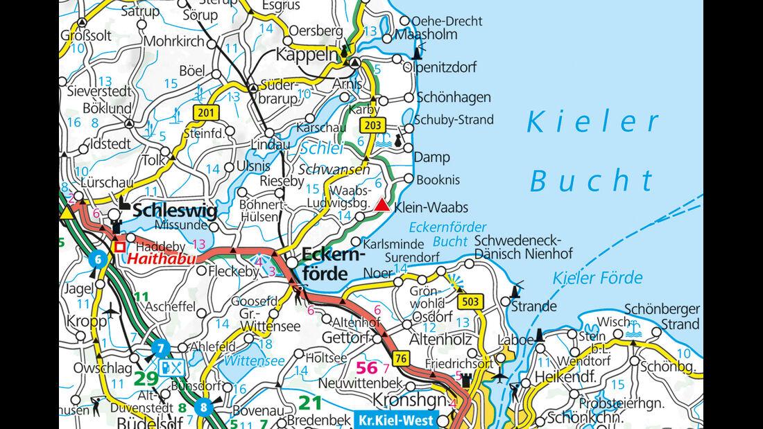 Karte Region Heide