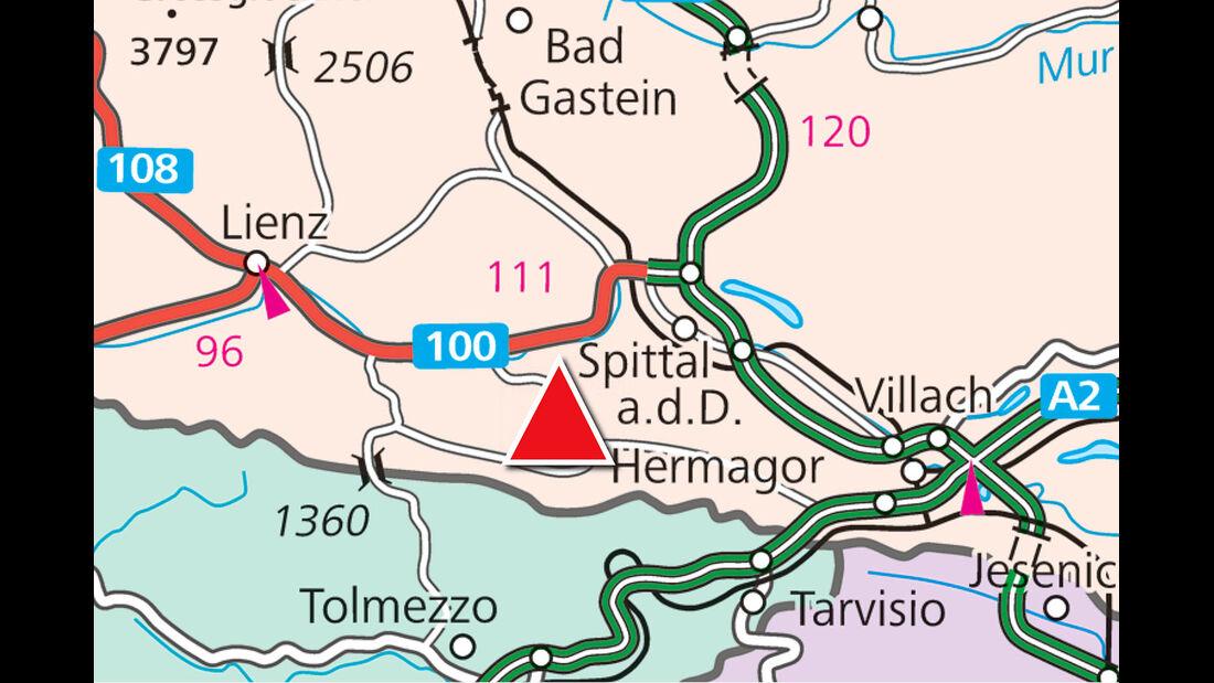 Karte Region Hermagor